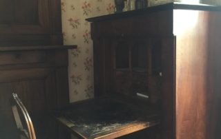 Chair and antique desk