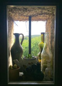 Small decorated window